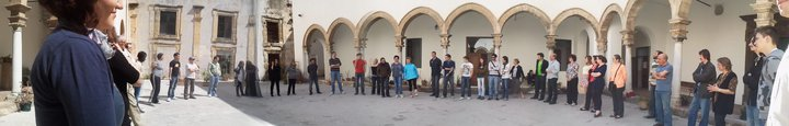 Participants of the workshop gathered in the convent, Palermo, Spring 2011